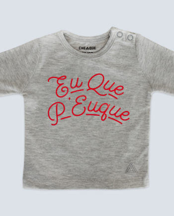 eu que p'euque-baby-t-shirt-grey-cheaque