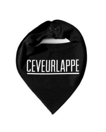 CEVEURLAPPE GESTREEPT ZWART - ZEVERLAP - CHEAQUE
