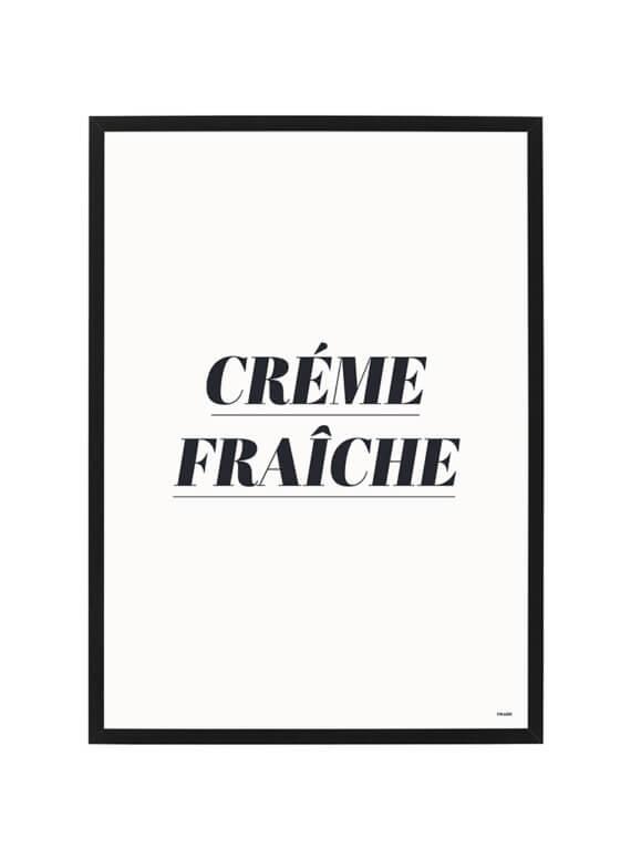 créme fraîche poster - poster - giftshop - cheaque - Créme Fraîche