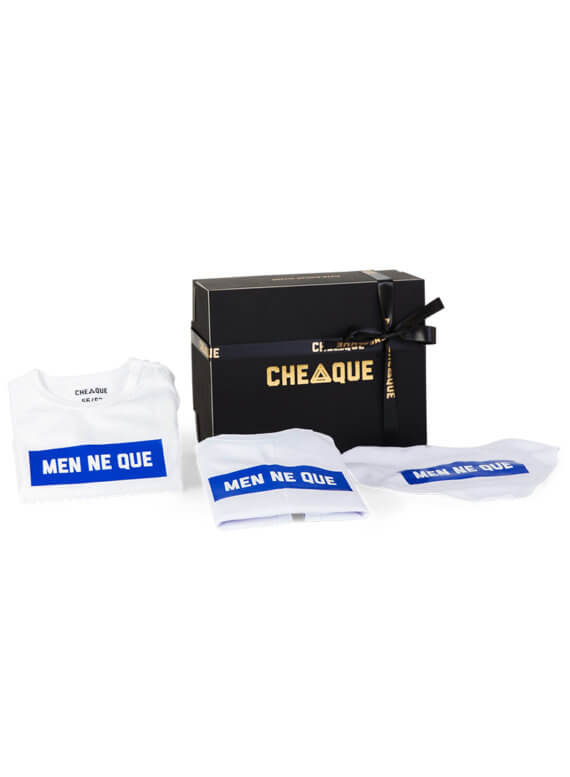 Menneque babypakket - cheaque - cadeaupakketten