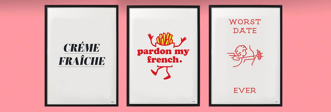 Cheaque artworks - cheaque blog - cheaque - Pardon my french - créme fraîche - worst date ever - poster