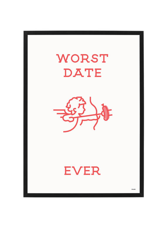 Worst Date Ever Poster - Worst Date Ever - Cheaque - Poster - Giftshop