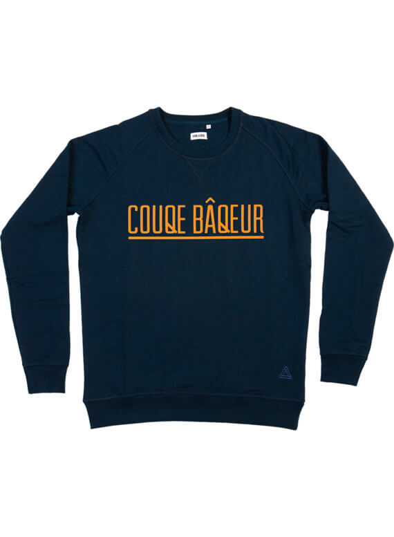 Couqe baqeur donkerblauw sweater