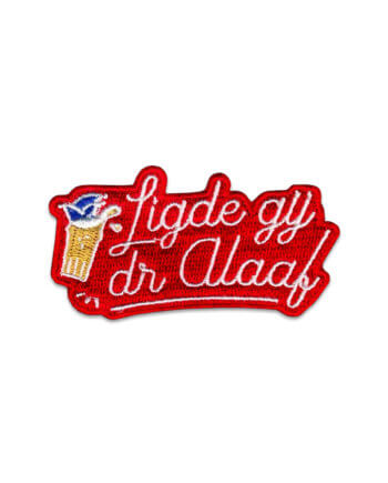 LIGDE GIJ D'R ALAAF PATCH 11 PACK ROOD - cheaque - carnaval - embleem - patch
