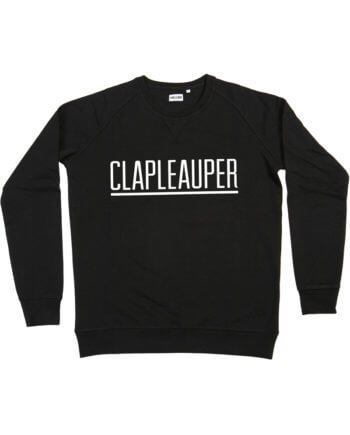CLAPLEAUPER ZWART SWEATER - Clapleauper - Cheaque - week design