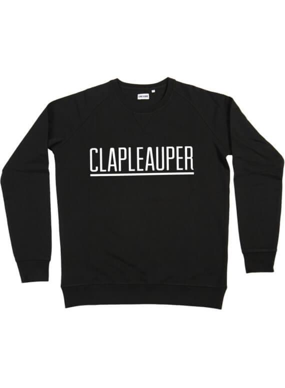 CLAPLEAUPER ZWART SWEATER - Clapleauper - Cheaque - week design