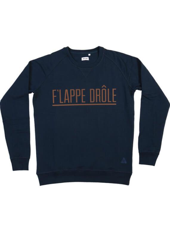 F'LAPPE DRÔLE DONKERBLAUW SWEATER - sweater van de week - Cheaque - flapdrol