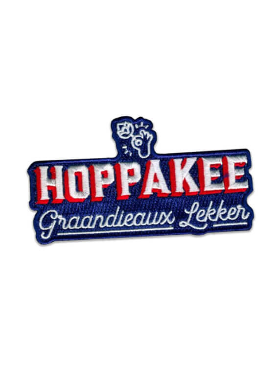 HOPPAKEE-PATCH BLAUW - cheaque - carnaval - patch