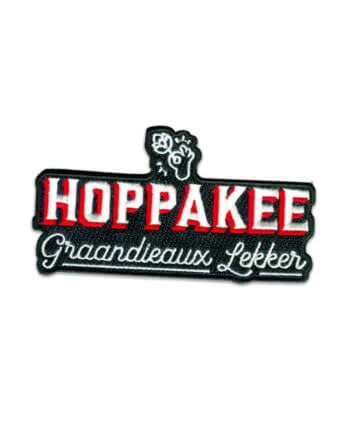 HOPPAKEE-PATCH GROEN - carnaval - cheaque - patch