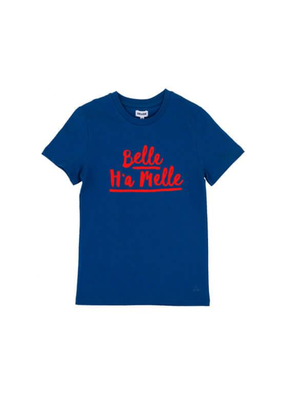 BELLE H'A MELLE STOER BLAUW KIDS T-SHIRT