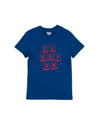 CLEUTER SCRABBLE BLAUW KIDS T-SHIRT