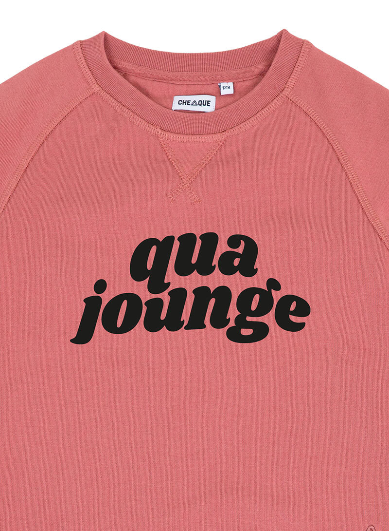 QUA JOUNGE DARKROSE KIDS SWEATER