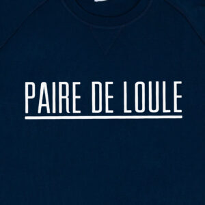 PAIRE DE LOULE STREEP DONKERBLAUW SWEATER