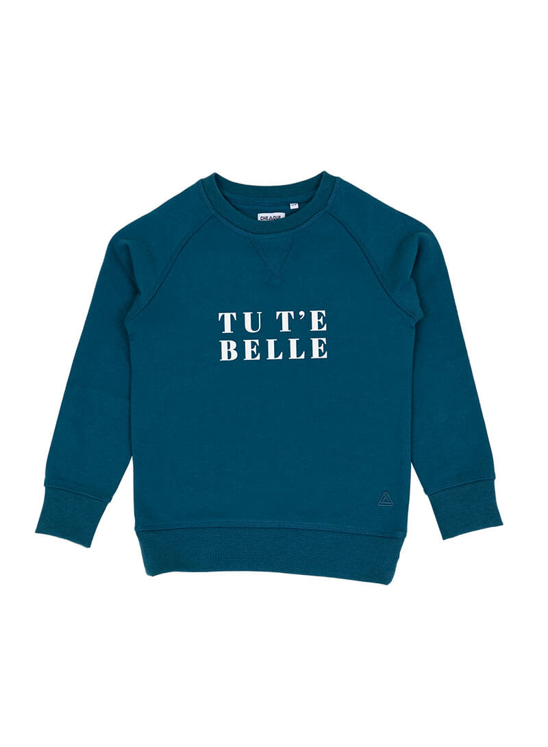 TU T E BELLE GRIJSGROEN KIDS SWEATER