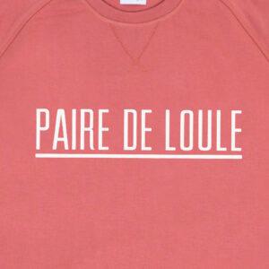 PAIRE DE LOULE STREEP DARKROSE SWEATER