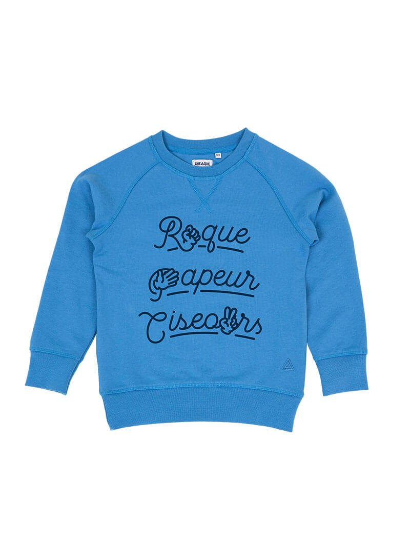ROQUE PAPEUR CISEOURS BLAUW KIDS SWEATER