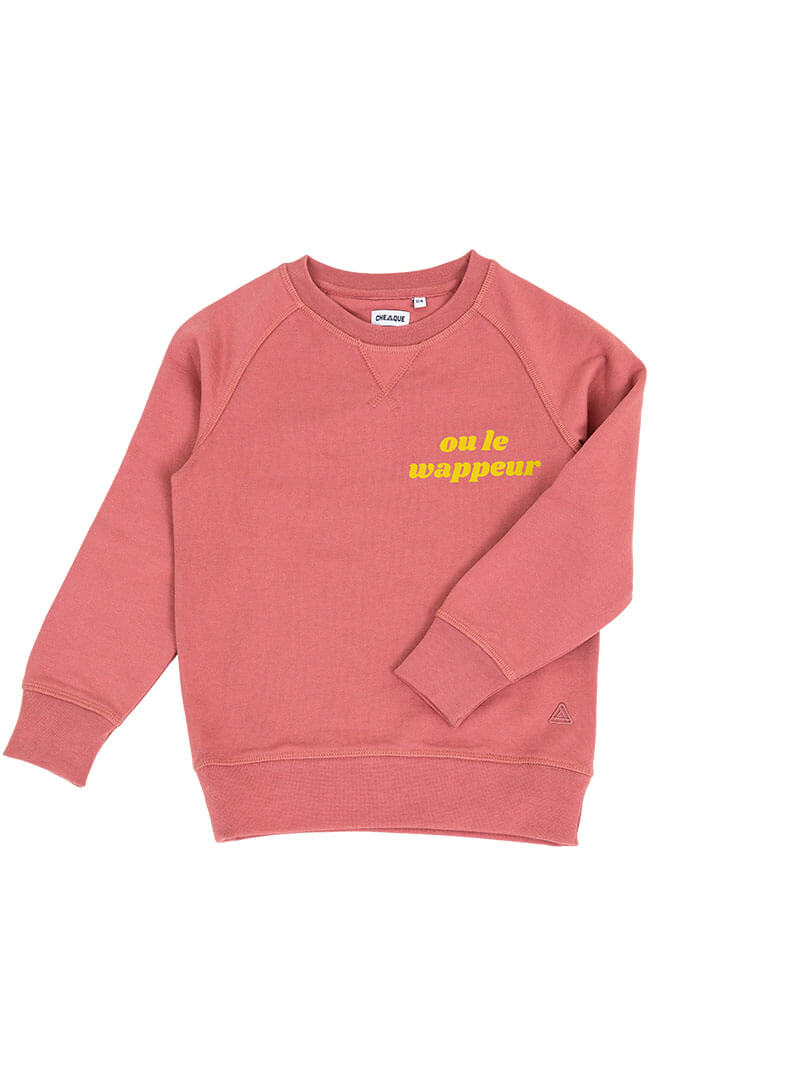 OU LE WAPPEUR DARKROSE KIDS SWEATER