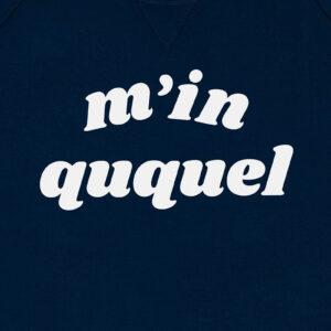 M IN QUQUEL DONKERBLAUW SWEATER