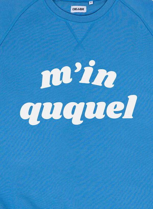 M IN QUQUEL BLAUW SWEATER