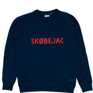 SKOBEJAC DONKERBLAUW SWEATER