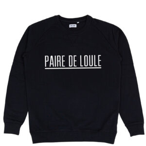 PAIRE DE LOULE STREEP ZWART SWEATER