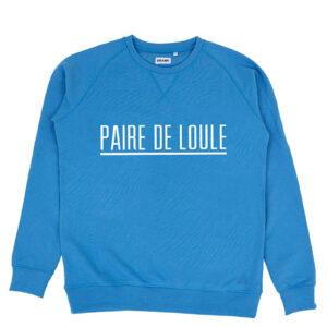 PAIRE DE LOULE STREEP BLAUW SWEATER