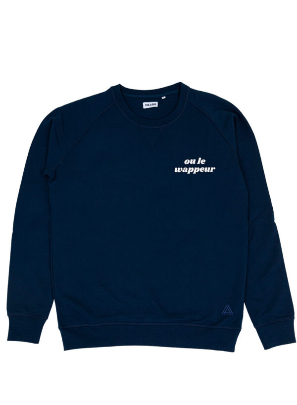 OU LE WAPPEUR DONKERBLAUW SWEATER