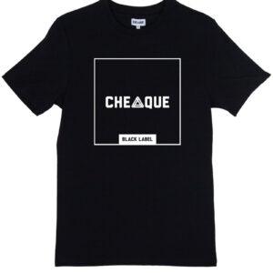 CHEAQUE BLACKLABEL BLOCK BLACK TEE