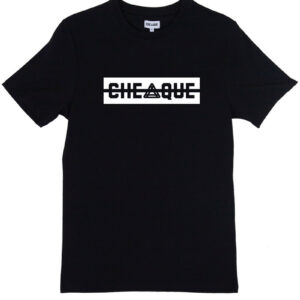 CHEAQUE LOGO BLACK TEE