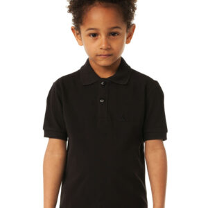 CHEAQUE LOGO ZWART KIDS POLO