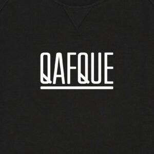 QAFQUE ZWART / WITTE SWEATER